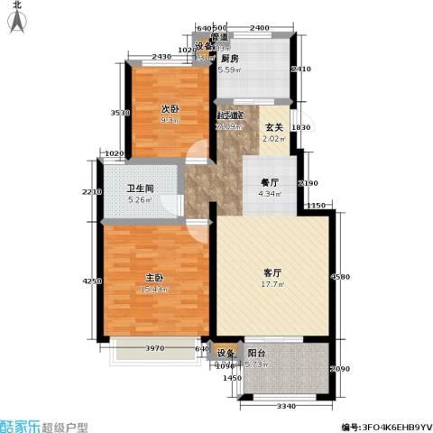 朗诗未来街区2室0厅1卫1厨84.00㎡户型图