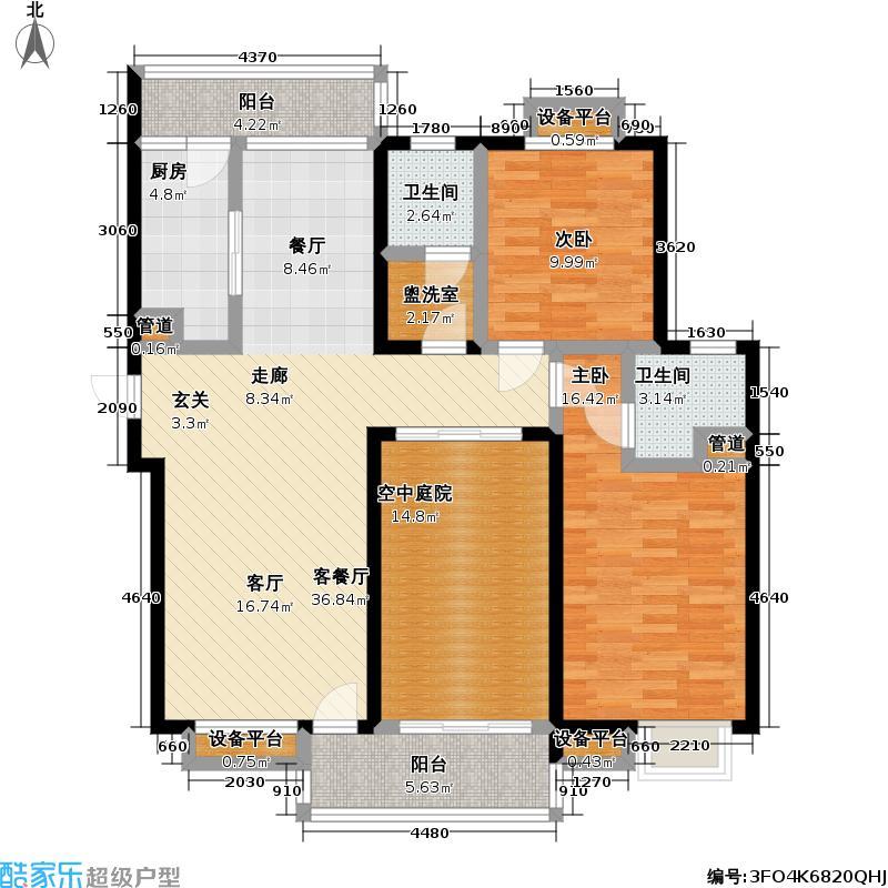御源林城-户型2室1厅2卫1厨