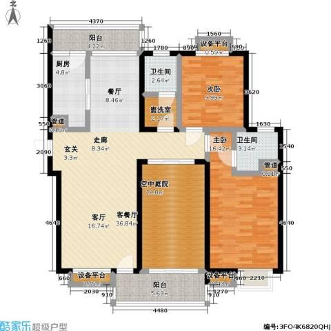 御源林城2室1厅2卫1厨109.00㎡户型图