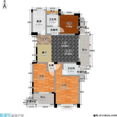 合峰汇3室0厅2卫1厨114.00㎡户型图