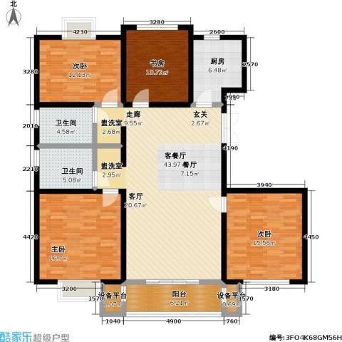 怡和花园4室1厅2卫1厨123.19㎡户型图