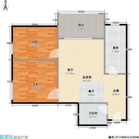 美丽愿景2室0厅1卫1厨78.00㎡户型图