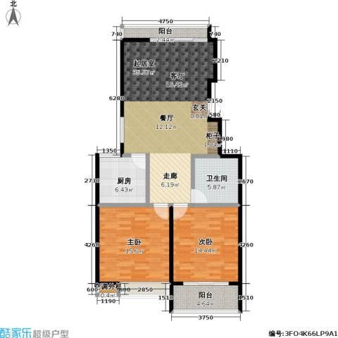 金田雅居2室0厅1卫1厨107.00㎡户型图