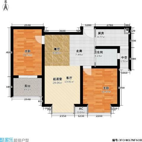 凯旋城2室0厅1卫1厨85.00㎡户型图