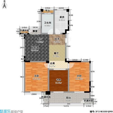 合峰汇3室0厅1卫1厨109.00㎡户型图