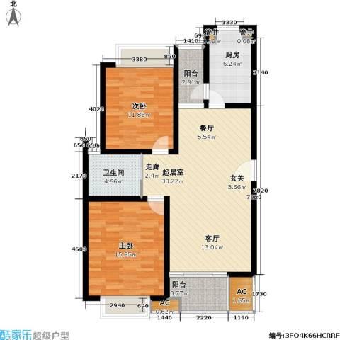 凯尔枫尚2室0厅1卫1厨90.00㎡户型图