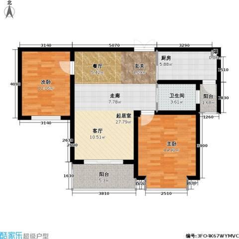 凯旋城2室0厅1卫1厨90.00㎡户型图