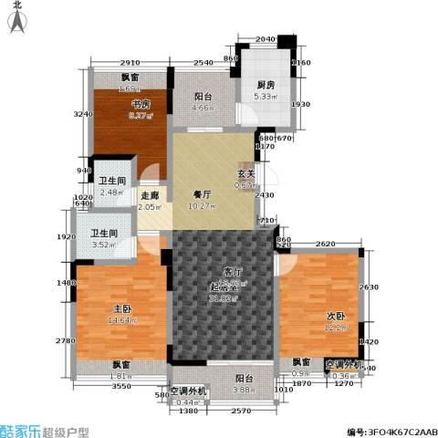 吟枫苑3室0厅2卫1厨126.00㎡户型图