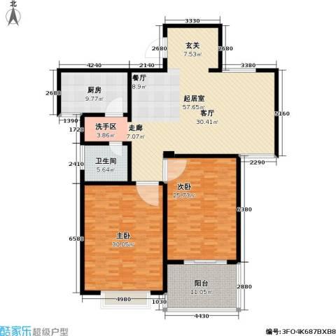 香梅花园2室0厅1卫1厨155.00㎡户型图