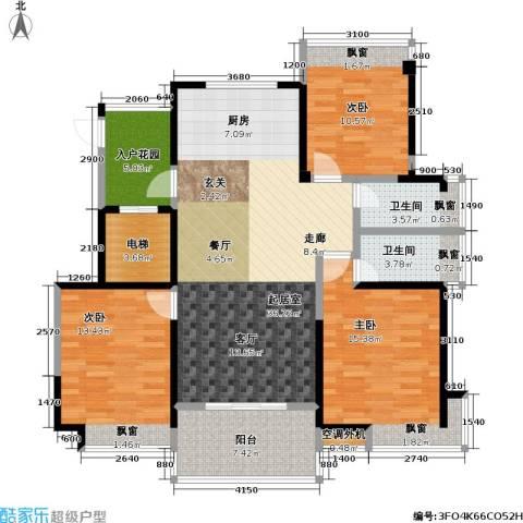 吟枫苑3室0厅2卫0厨141.00㎡户型图