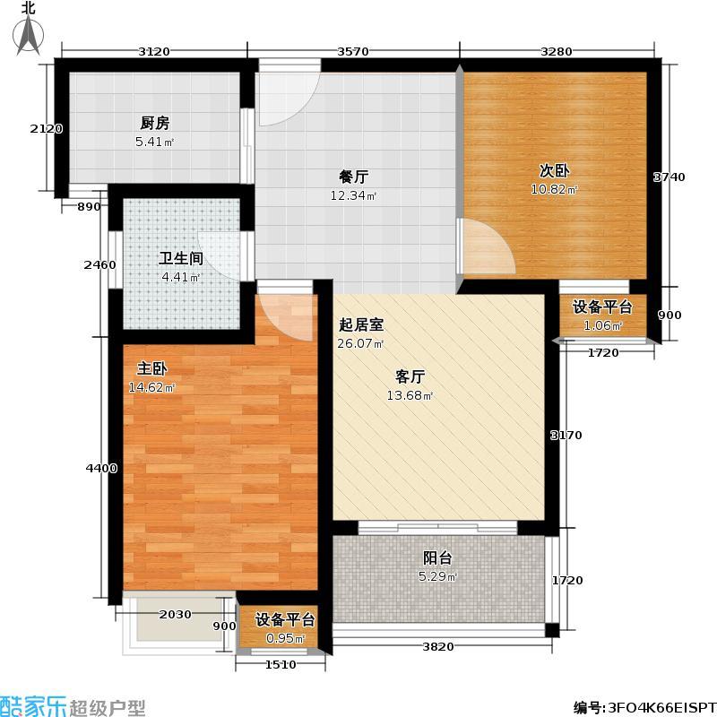 新城南都79.35㎡新城南都户型图二房二厅一卫-79.35平方米-34套(4/10张)户型10室