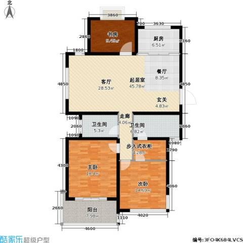香梅花园3室0厅2卫1厨127.00㎡户型图