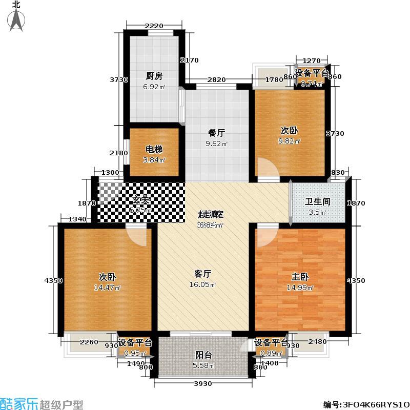 新城南都115.08㎡新城南都户型图三房二厅一卫-115.08平方米-11套(8/10张)户型10室