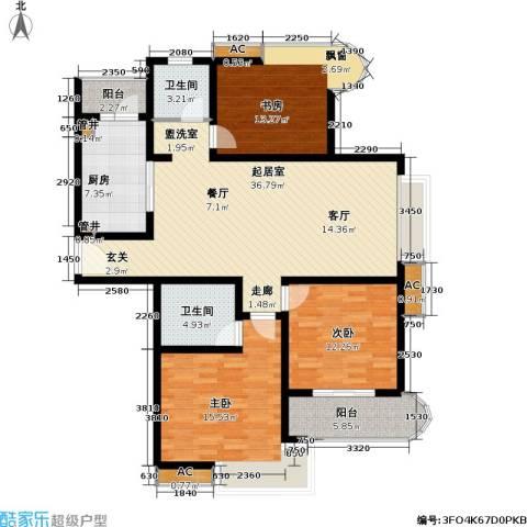 凯尔枫尚3室0厅2卫1厨106.00㎡户型图