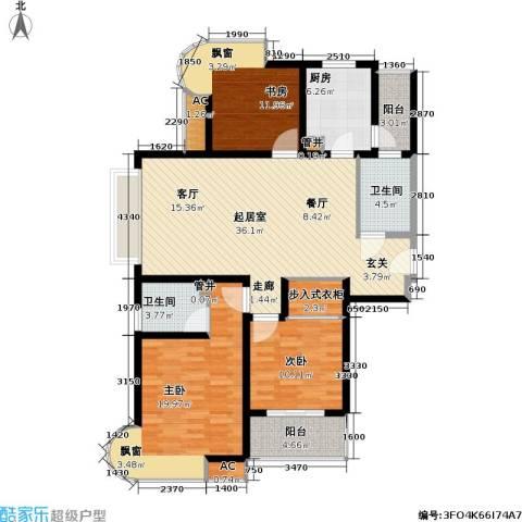 凯尔枫尚3室0厅2卫1厨121.00㎡户型图