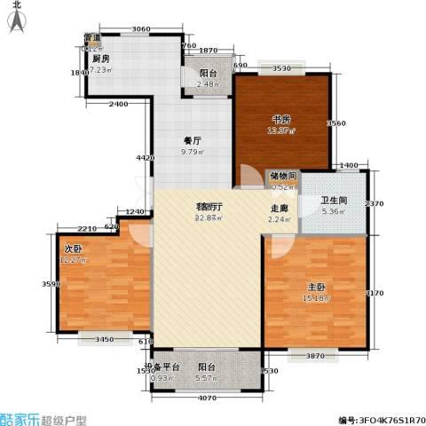 金光大道二期文昌花园3室1厅1卫0厨103.00㎡户型图