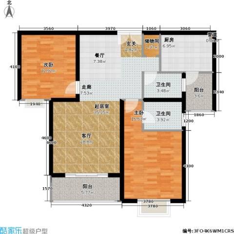 华丽家族花园2室0厅2卫1厨106.00㎡户型图