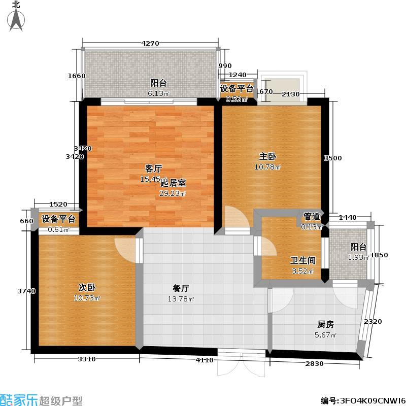 棕榈岛枫丹树语城二期房型户型