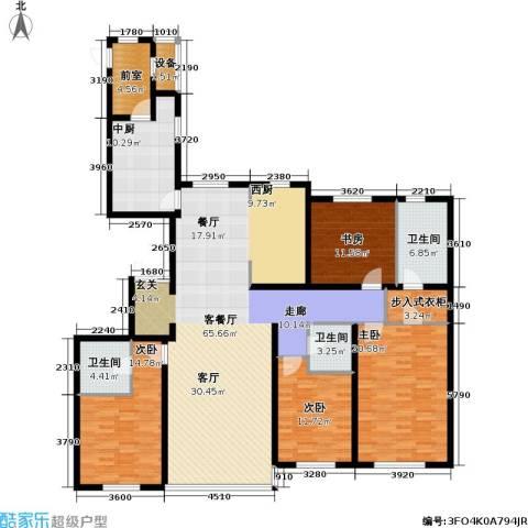 冠城・名敦道 冠城园4室1厅3卫0厨221.00㎡户型图