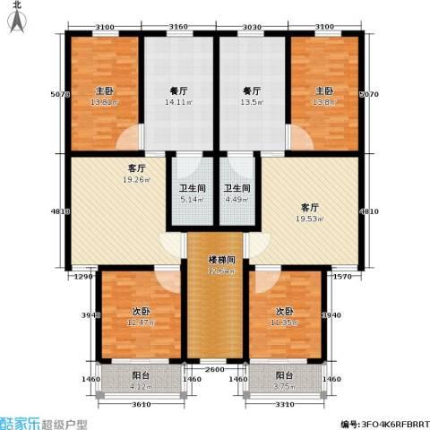 翠屏北里4室4厅2卫0厨147.95㎡户型图