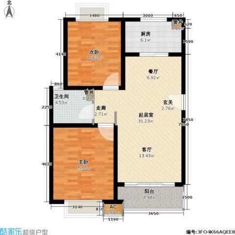 凯尔枫尚2室0厅1卫1厨87.00㎡户型图