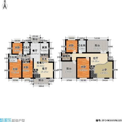 月泉湾名邸5室1厅3卫1厨205.00㎡户型图