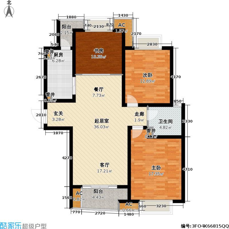 凯尔枫尚112.00㎡凯尔枫尚户型图12号楼户型(1/11张)户型3室2厅1卫