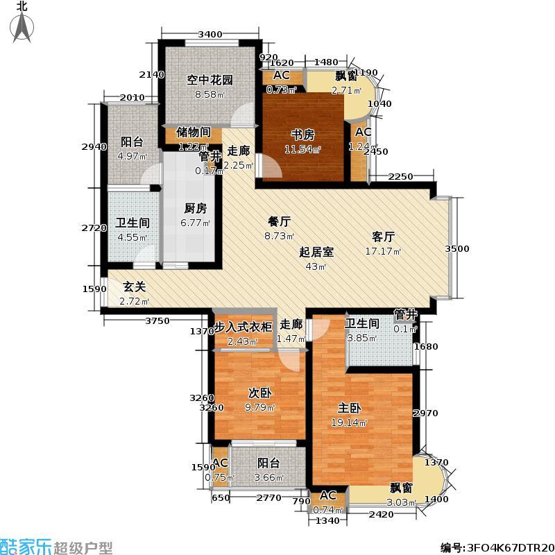 凯尔枫尚140.00㎡凯尔枫尚户型图四房二厅二卫-140平方米-24套(3/3张)户型10室