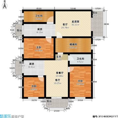 翠屏北里3室1厅2卫0厨120.94㎡户型图