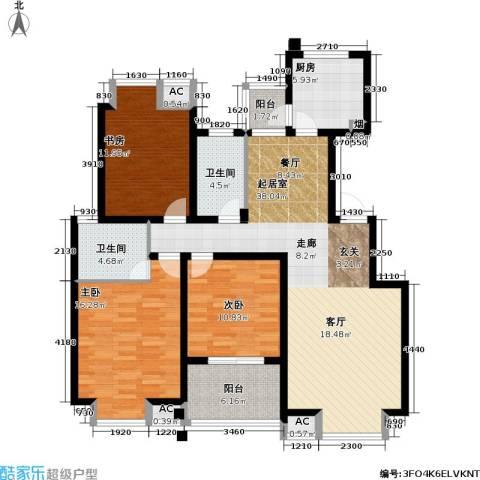 凯旋城3室0厅2卫1厨124.00㎡户型图