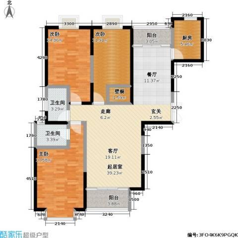 冠城3室0厅2卫1厨149.00㎡户型图