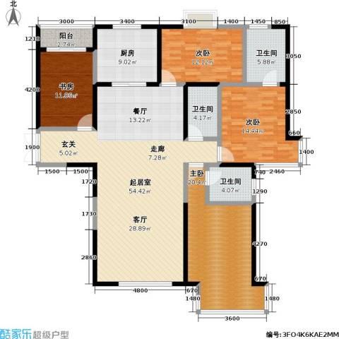 冠城4室0厅3卫1厨194.00㎡户型图