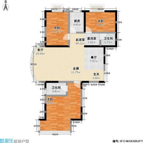 冠城3室0厅2卫1厨126.00㎡户型图