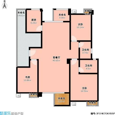 金龙华侨城3室1厅2卫1厨169.00㎡户型图