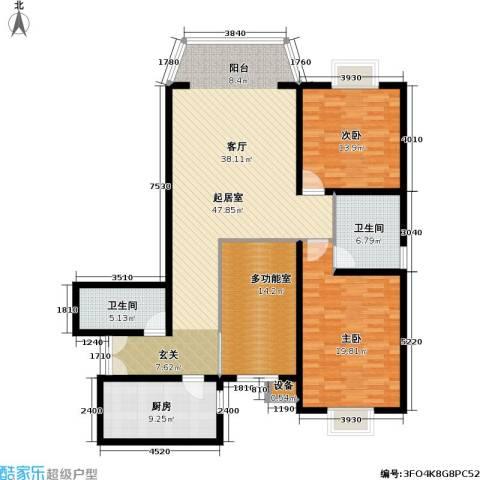 通典铭居2室0厅2卫1厨132.00㎡户型图