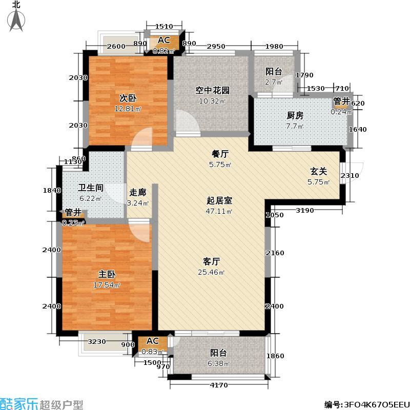景瑞铂庭129.00㎡景瑞铂庭户型图D户型三室两厅一卫约116-129㎡(2/4张)户型3室2厅1卫