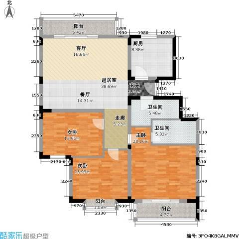 日光清城3室0厅2卫1厨131.00㎡户型图