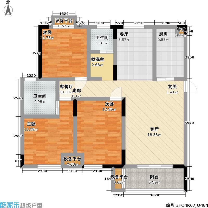 御源林城109.00㎡御源林城户型图三房二厅二卫-127.91平方米(10/13张)户型10室