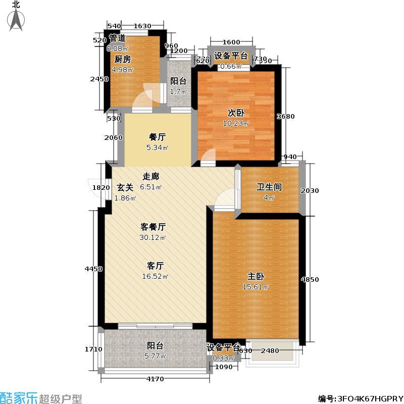 御源林城85.00㎡御源林城户型图二房二厅一卫-85平方米(10/10张)户型10室
