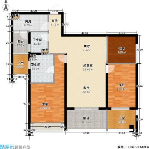 莱蒙时代3室0厅2卫1厨134.00㎡户型图