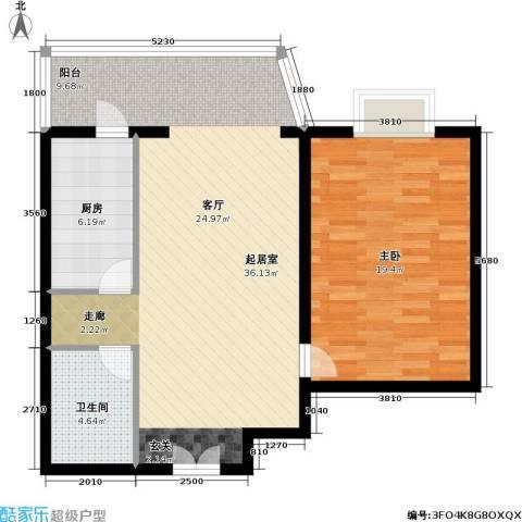 通典铭居1室0厅1卫1厨74.00㎡户型图