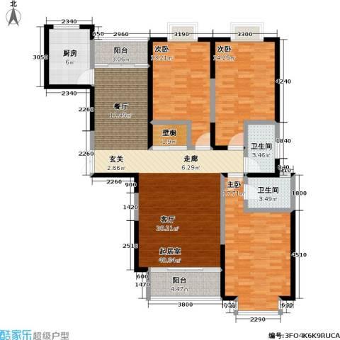 冠城3室0厅2卫1厨155.00㎡户型图