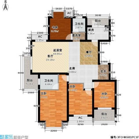 凯旋城4室0厅2卫1厨145.00㎡户型图