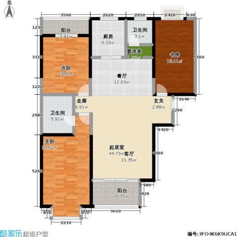 冠城3室0厅2卫1厨138.00㎡户型图