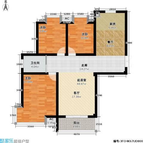 凯旋城3室0厅1卫0厨112.00㎡户型图