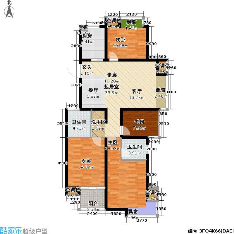 丰臣南郡123.00㎡丰臣南郡户型图四房二厅二卫-123平方米(3/3张)户型10室