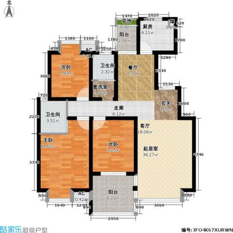 凯旋城3室0厅2卫1厨112.00㎡户型图