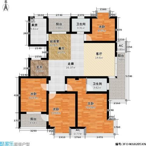 凯旋城4室0厅2卫1厨140.00㎡户型图