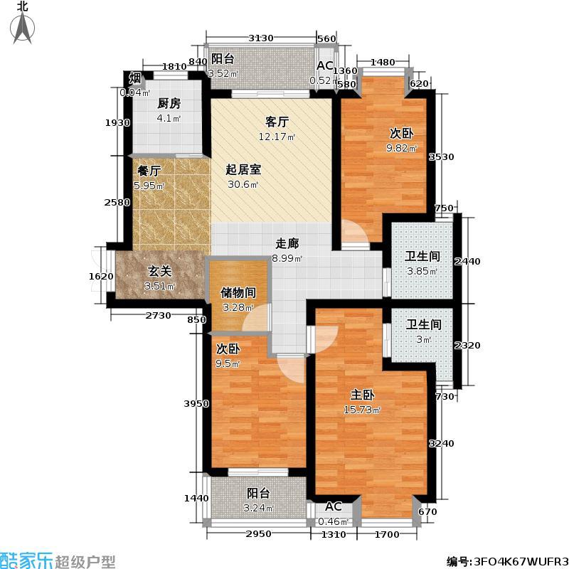 凯旋城112.00㎡凯旋城户型图136平米(5/8张)户型10室