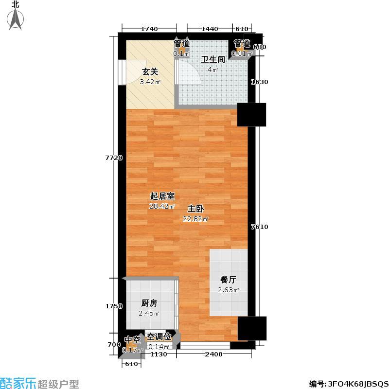 新城尚东区41.00㎡新城尚东区户型图一房一厅一卫-69平方米(3/3张)户型10室